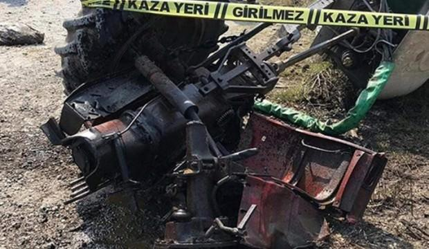 Tren traktörü ikiye böldü, sürücü öldü