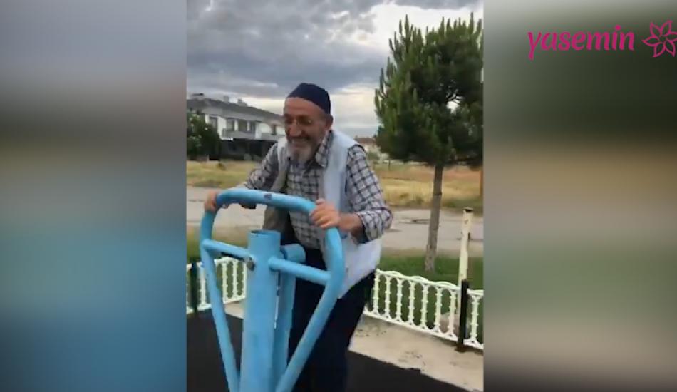 Yaşlıların çocuklar gibi eğlenmesi sosyal medyayı salladı!