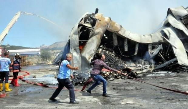 Ankara'da gıda deposunda yangın
