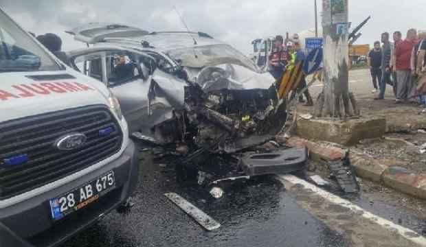 Giresun'da feci kaza: 3 ölü 1 yaralı