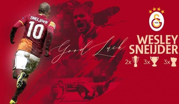 Galatasaray'dan Sneijder mesajı!