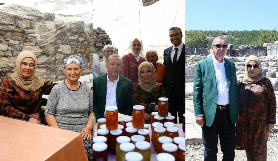 2019'un trend şal bağlama stiline Emine Erdoğan da uydu