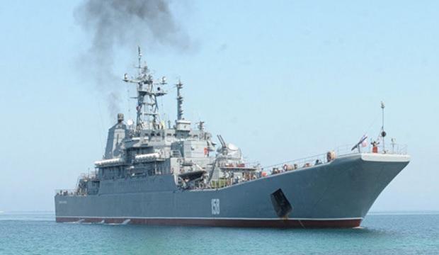 Rus askeri gemisi Çanakkale Boğazı'ndan geçti!