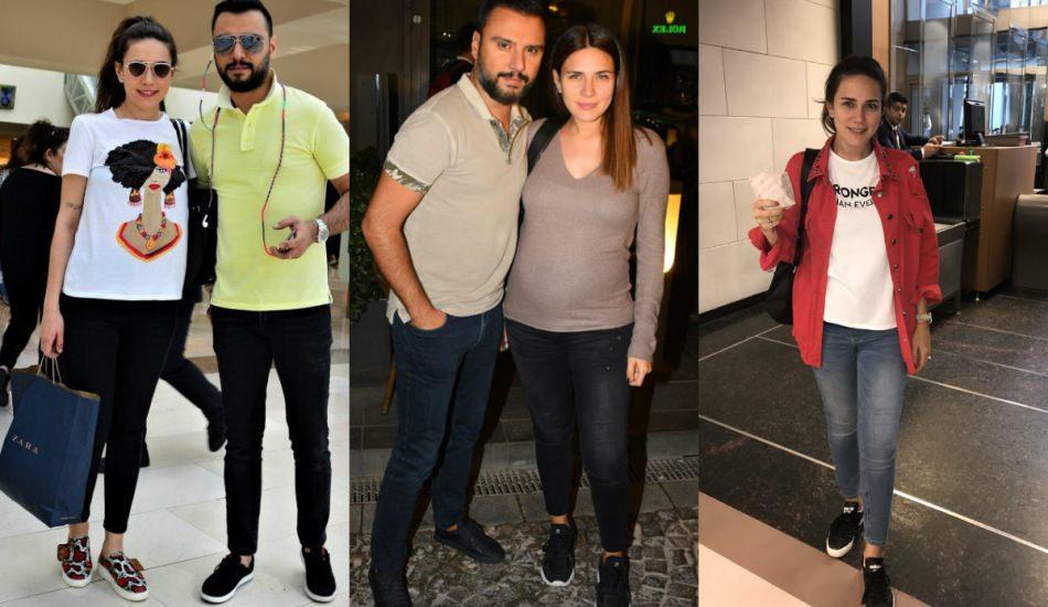 Buse Varol bu tarzı tercih etti! Sezonun en trend hamile giyim modelleri
