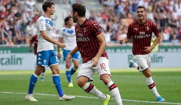 Hakan Çalhanoğlu attı Milan ilk kez kazandı!