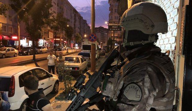 500 polisle Bursa merkezli uyuşturucu operasyonu