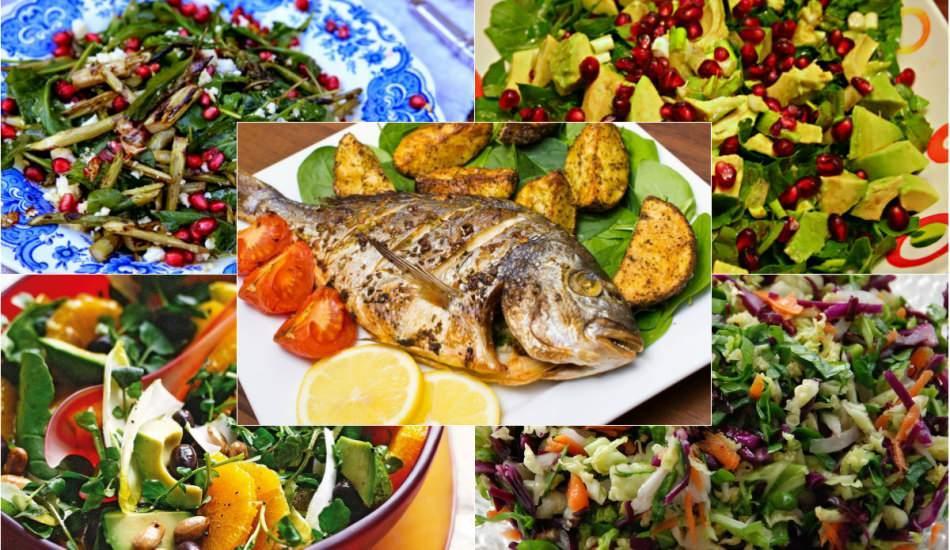Balığın yanına iyi giden en kolay salata tarifleri!  Balığa en çok yakışan 5 salata tarifi