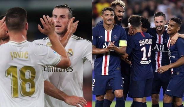 G.Saray'ın rakipleri PSG ve Real Madrid'in kadroları