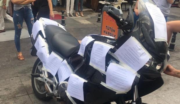Motosiklet sürücüsü esnafı bezdirince...Öyle bir şey yaptılar ki!