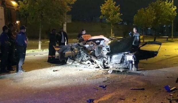 Ankara'da 'Drift' kovalamacası: 2 ölü, 1 yaralı