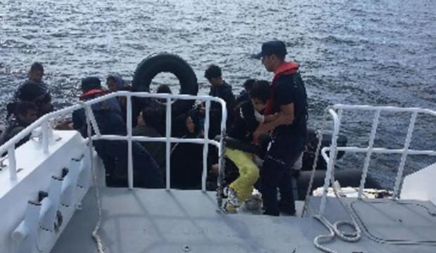Enez açıklarında 50 kaçak göçmen yakalandı