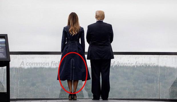 Melania Trump'ın kıyafeti ortalığı karıştırdı