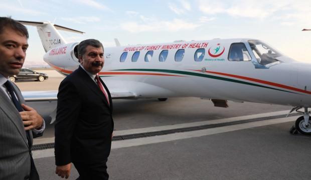 Sağlık Bakanı Koca, hava ambulanslarını denetledi