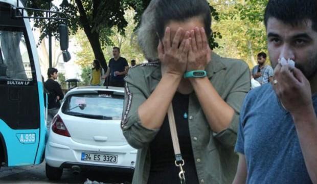 Taksim'de kontrolden çıkan otobüs iki otomobile çarptı