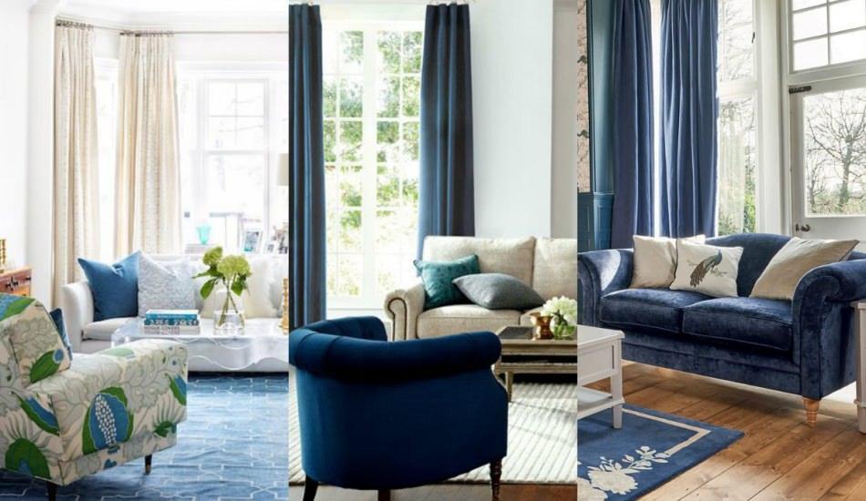 Lacivert ve mavi koltuk dekorasyonları nasıl yapılır?