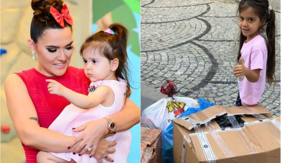 Demet Akalın'ın kızı Hira oyuncaklarını bağışladı!