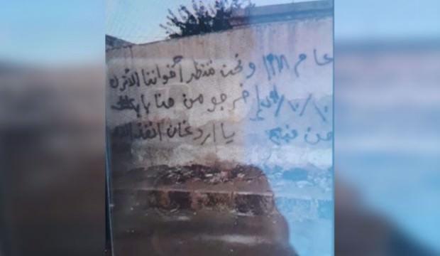 Münbiç'in duvarlarında anlamlı mesaj: Ey Erdoğan...