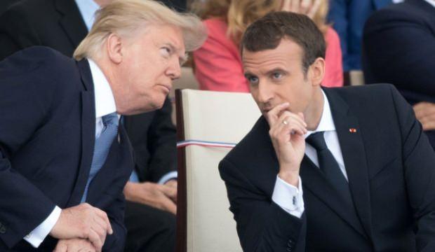 Trump ve Macron'dan kritik koronavirüs görüşmesi