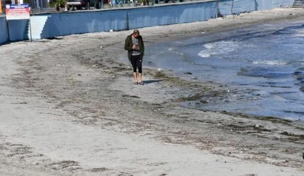 Deniz 25 metre çekildi, belediye açıklama yaptı