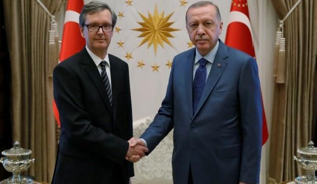 Erdoğan, Avusturya'nın Ankara Büyükelçisi Wimmer'ı kabul etti
