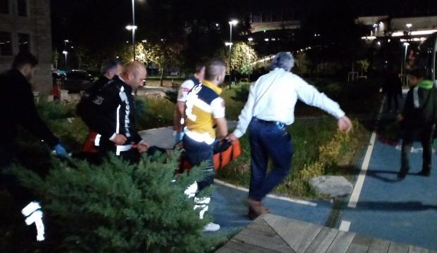 Haliç'e düşen yabancı uyruklu şahıs hastaneye kaldırıldı