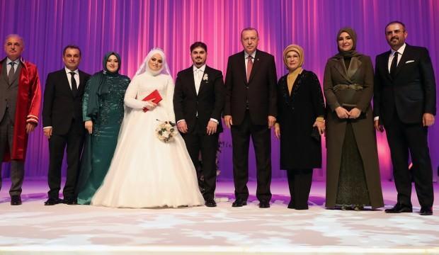 Erdoğan, Mahir Ünal'ın kızının nikah törenine katıldı