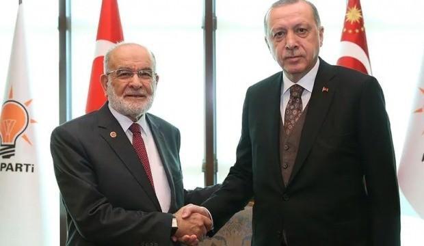 Erdoğan'dan Karamollaoğlu'na tebrik