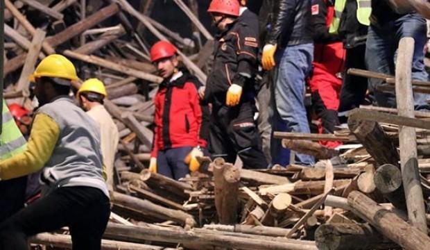 Gaziantep'te cami inşaatında çökme! Mühendis enkazın altında kaldı!