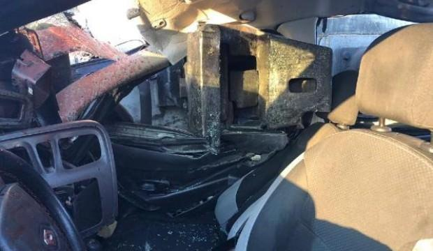 Dehşete düşüren kaza! Araçta 3 kişi vardı