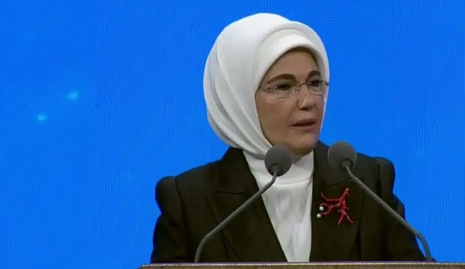 Emine Erdoğan Beştepe'de 'Kadına Şiddete Hayır' programında konuştu