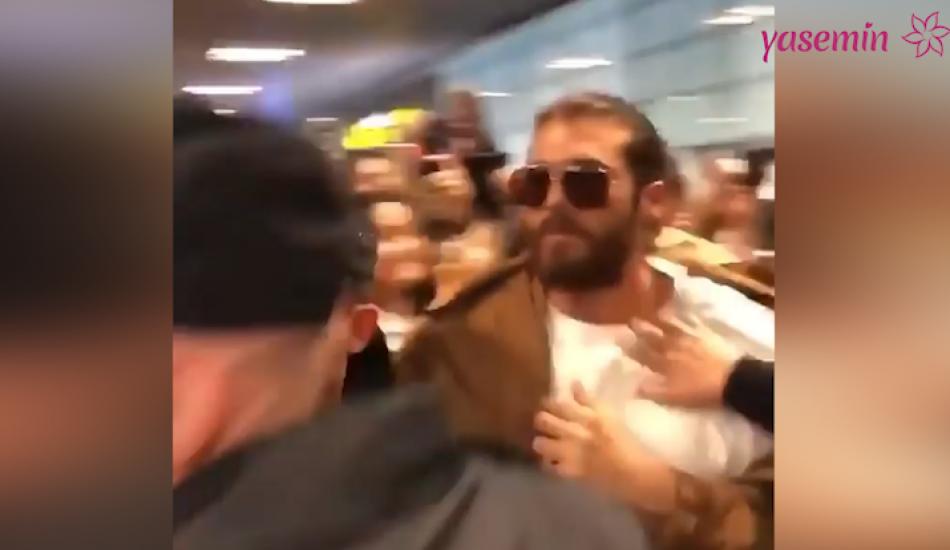 Oyuncu Can Yaman Madrid havalimanından polis eşliğinde ayrıldı!