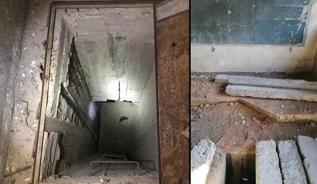 Teröristler okuldan tünel kazmışlar!