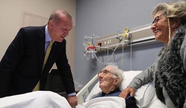 Erdoğan, ünlü sanatçıyı hastanede ziyaret etti!