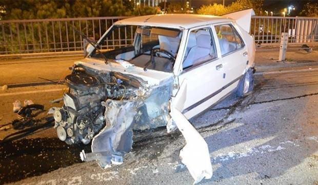 İstanbul'da gece yarısı feci kaza!