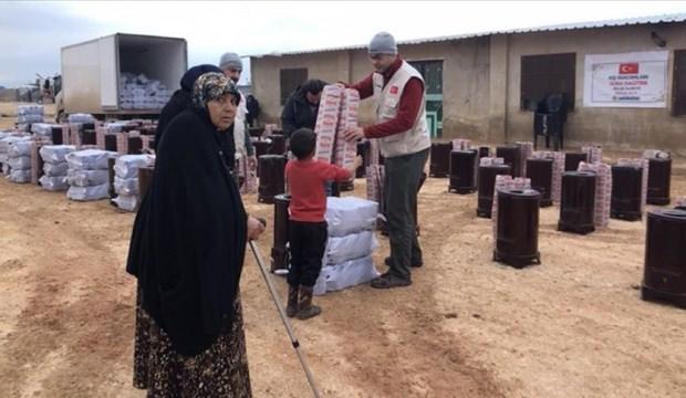 Sadakataşı Derneğinden Suriyeli yetimlere kışlık yardım