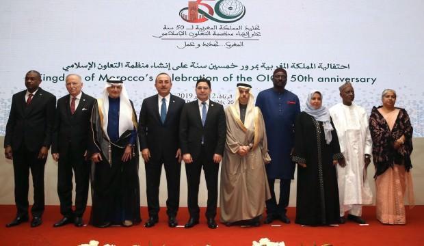 Bakan Çavuşoğlu liderlerle aile fotoğrafı çektirdi