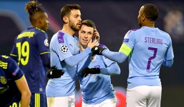 Manchester City Dinamo Zagreb'in hayallerini yıktı