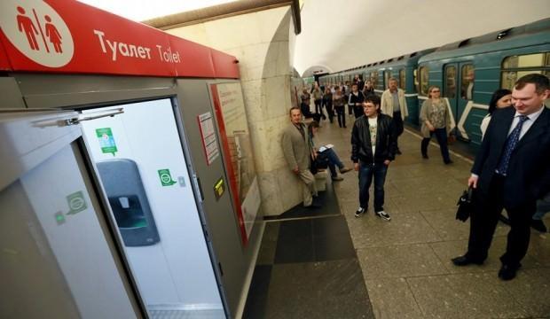 Rusya'da metrodaki tuvaletlere kamera takıldı