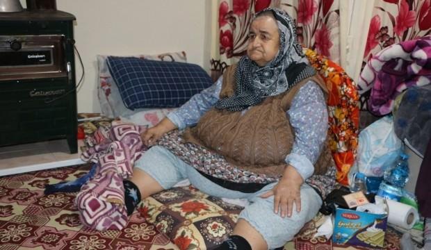 180 kiloluk kadının yardım çığlığı! 'Beni kurtarın'