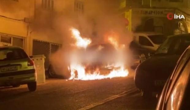 Selanik'te Türk diplomatın aracına saldırı! Ateşe verdiler