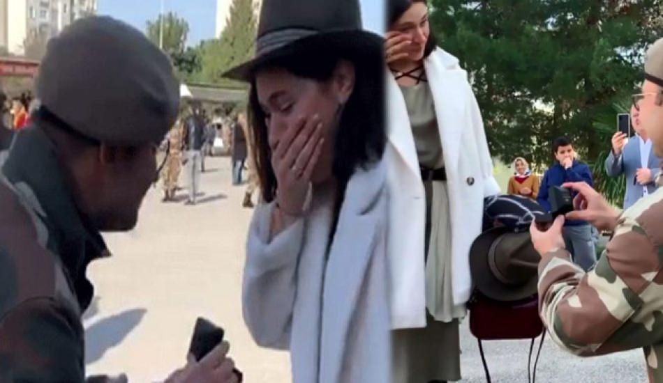 Gözde Çığacı'ya asker sevgilisi içtima sırasında evlenme teklifi etti!