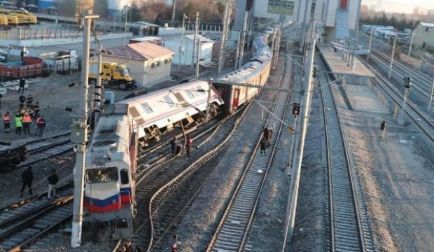 Ankara'da Doğu Ekspresi treni raydan çıktı