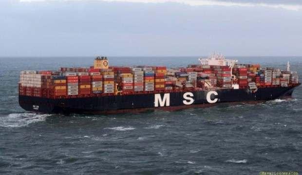 Fırtına yüzünden gemideki 6 konteyner denize düştü, kaptana uyarı yapıldı!