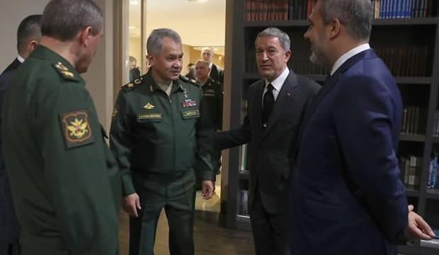 Hakan Fidan, Rus Savunma Bakanı Şoygu ile görüştü