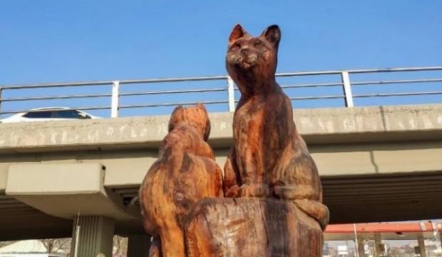 CHP'den dev hizmet! Ağaçtan heykeller