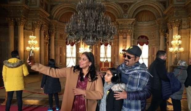 Dolmabahçe Sarayı'nda selfie günü