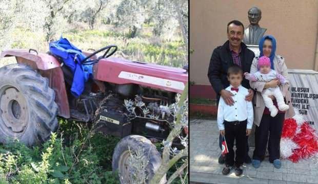 Freni boşalan traktörden atlayan sürücüden kötü haber!