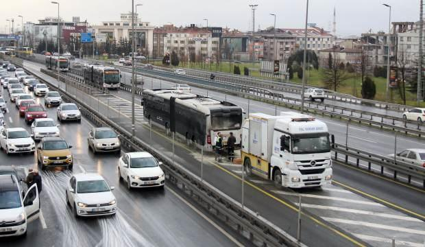 İstanbul'da metrobüs yangını!