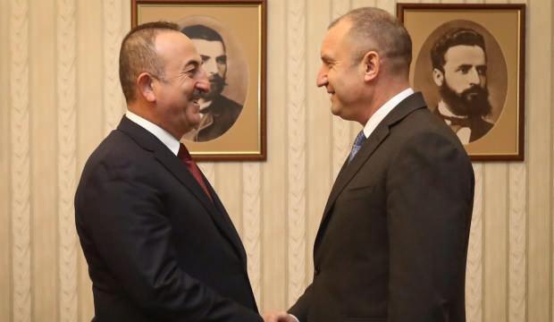 Çavuşoğlu, Bulgaristan Cumhurbaşkanı Radev ile görüştü