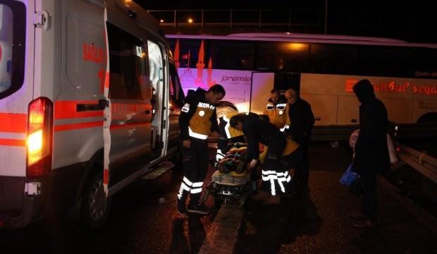Düzce'de yolcu otobüsü kaza yaptı: Yaralılar var